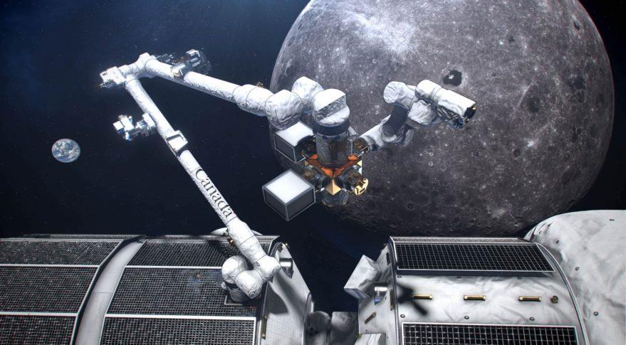 Artist's rendition of the Lunar Gateway