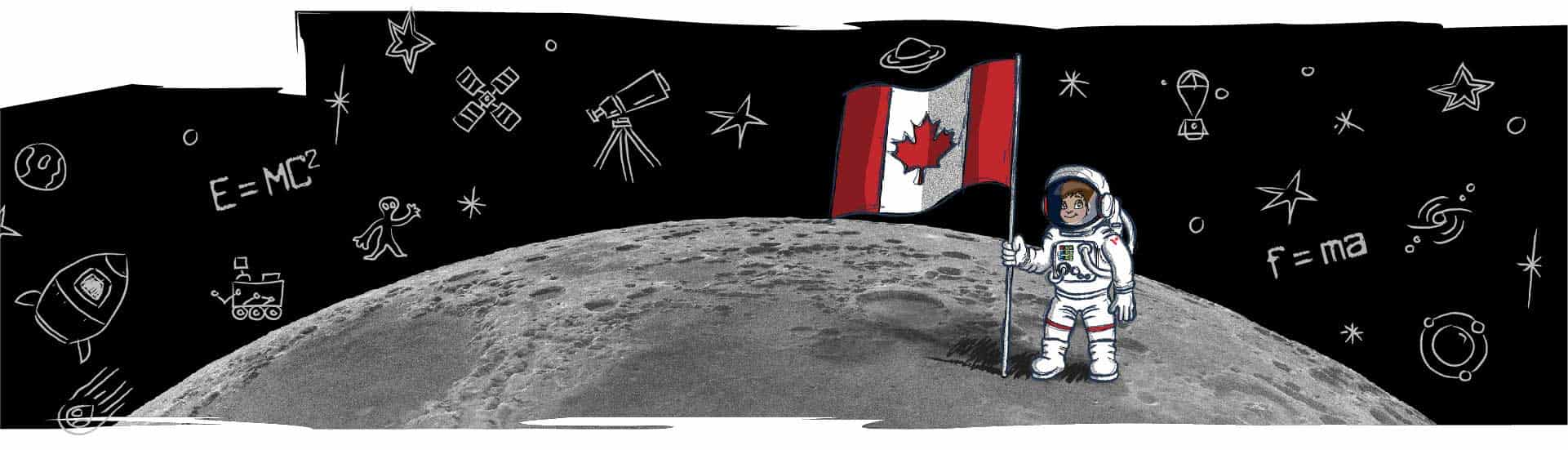 Banner for the Junior Astronauts program by the Canadian Space Agency