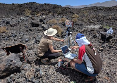 CanMoon field team at work in Lanzarote